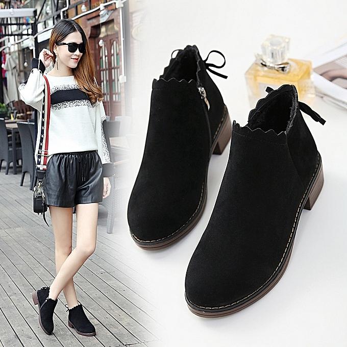 Autre Stylish Summer and Autumn Thick prix Sole Short Boots for WoHommes  à prix Thick pas cher    Jumia Maroc d33c03