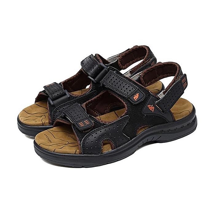 Fashion Fashion Genuine Leather Men's Sport Beach Sandals Fisherhomme Breathable Casual chaussures New-EU à prix pas cher