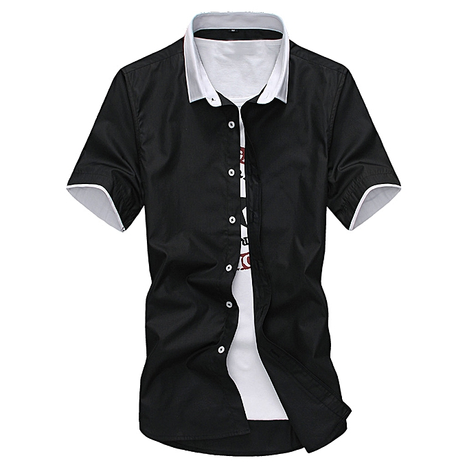 Fashion whiskyky store Men Summer Fashion Short Smart Casual Comfortable Solid Couleur Short Sleeve à prix pas cher