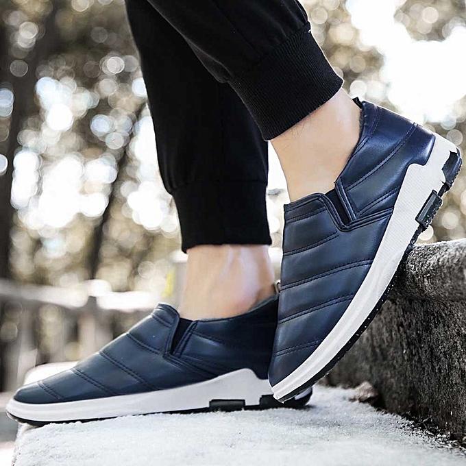 Fashion Hiamok Men's Winter Plus Velvet Warm chaussures Home Cotton chaussures Snow bottes à prix pas cher    Jumia Maroc