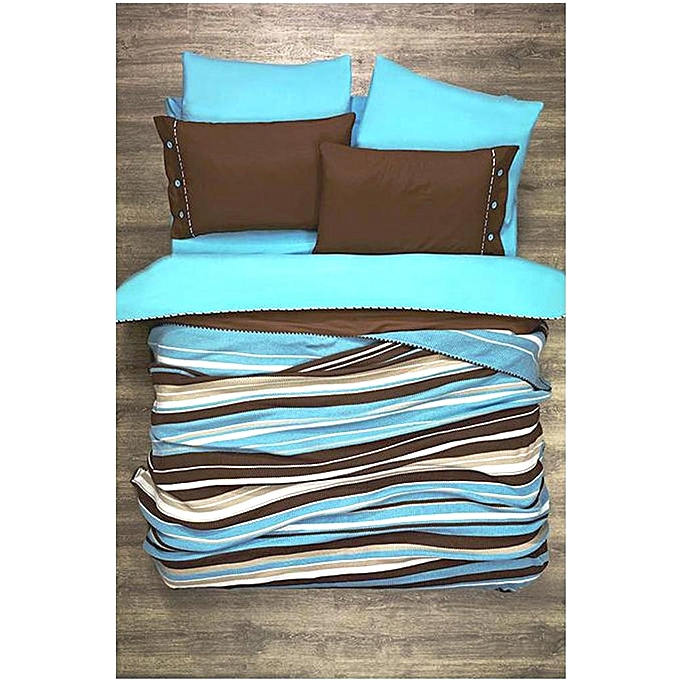 autre parure de lit 7pi ces zebre turquoise prix pas cher black friday 2018 jumia maroc. Black Bedroom Furniture Sets. Home Design Ideas