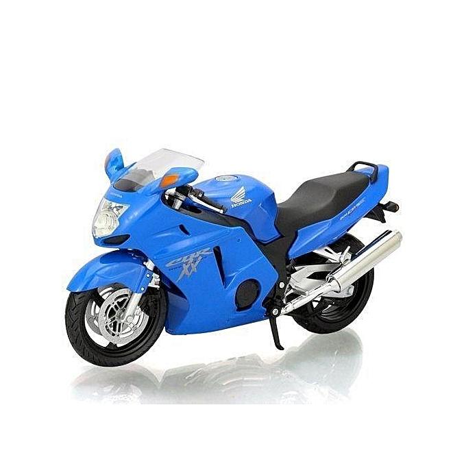 Autre 1 12 HONDA CBR1100XX Maquette Miniature Moto Modèle Jouets - bleu à prix pas cher