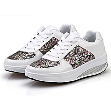 68410e58a1966 Generic Women  039 s Ladies Wedges Sneakers Sequins Shake Shoes Fashion  Girls Sport Shoes
