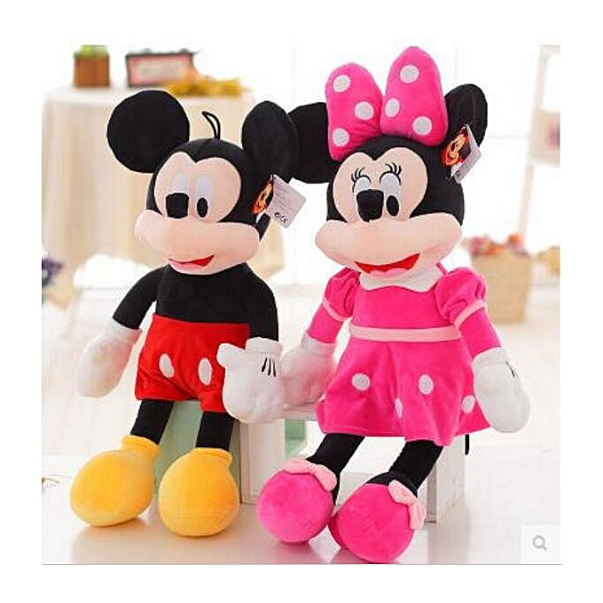 Autre Hot sale 2pcs lot 40cm High Quality Mickey or Minnie Mouse Plush Toy Doll for Birthday Christmas Gifts(rouge minnie   Mickey) à prix pas cher