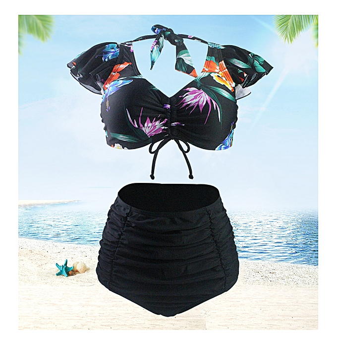 Fashion Bikini high waist triangle split swimsuit female beach two-piece à prix pas cher