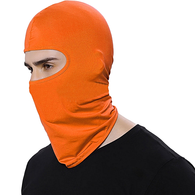 Autre Motorcycle Face Mask Winter Warm Ski Board Windproof Cap Outdoor Sports Neck Face Mask Police Cycling Balaclavas CAR partment( Orange) à prix pas cher