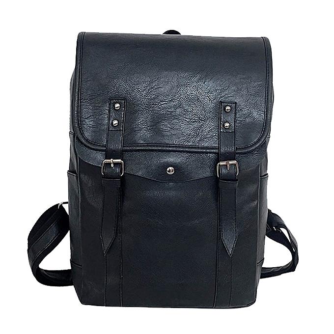 mode Unisex Shoulder sac Computer voyage Student grand capacité cuir sac à dos à prix pas cher