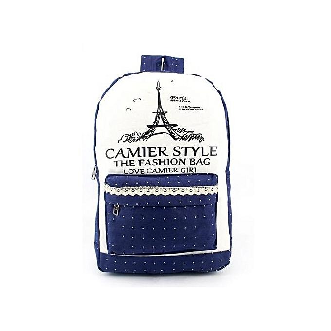 Generic femmes Fashion Simple Satchel Backpack Rucksack Shoulder School  BU à prix pas cher