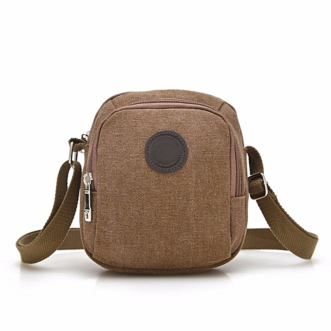 Other New Arrival Vintage Canvas Men's Shoulder Bag Casual Crossbody Bags for Men Leisure Travel Beach Bag Solid Male Bag Bolsos femmes(khaki) à prix pas cher
