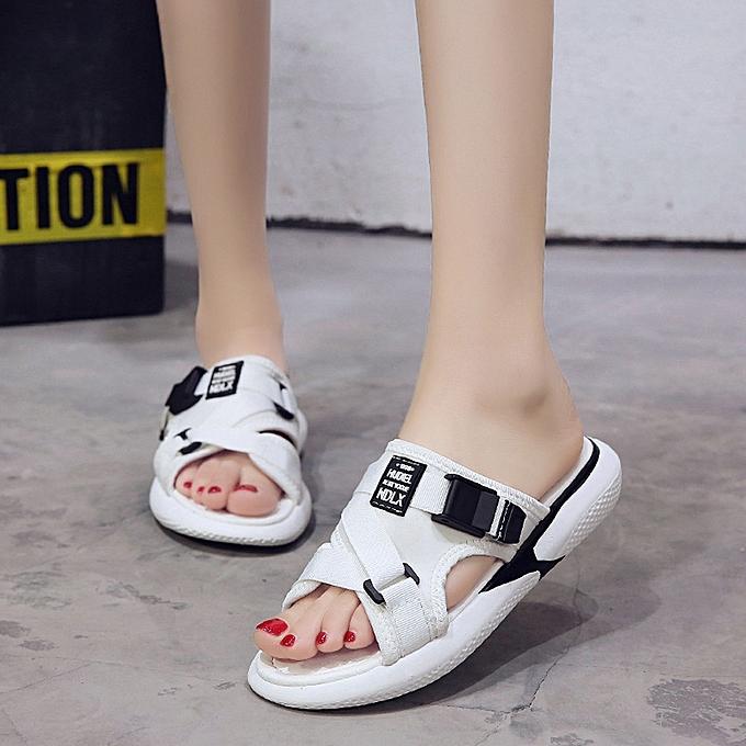 Fashion Fashion Summer Breathable Flat Anti Skidding chaussures Open Toe Beach Sandals  -blanc à prix pas cher    Jumia Maroc