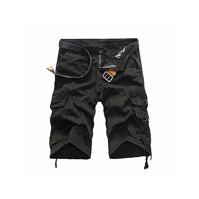Generic Fashion Men's Casual Loose Cargo Shorts (noir) à prix pas cher