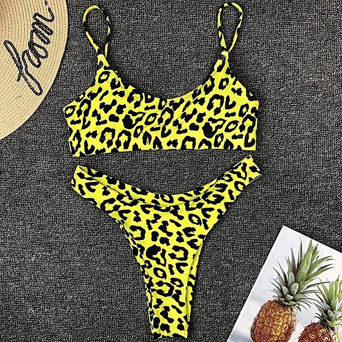 Autre leopard thong bikinis 2019 femmes brazilian bikini Push up swimwear femmes swimsuit y bathing suit bqiuini swimming bathers(19ST) à prix pas cher