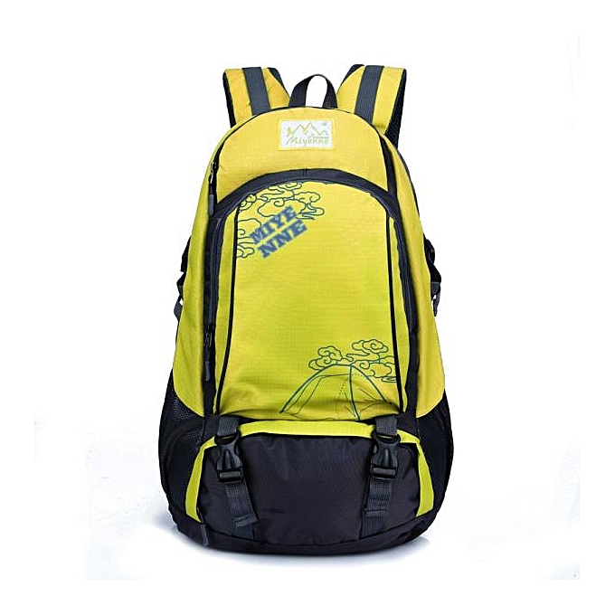 Generic Tcetoctre Men femmes Laptop Backpack Computer Notebook School Mountaineer Travel Bag-jaune à prix pas cher