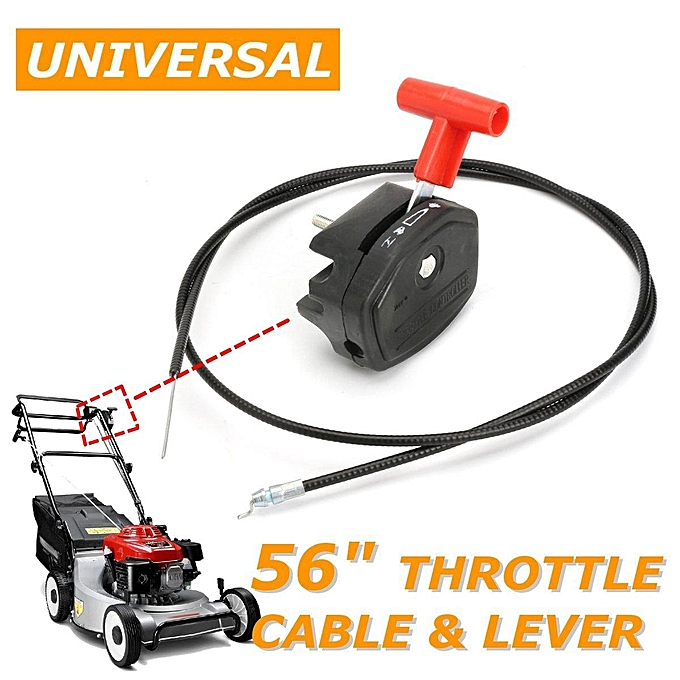 UNIVERSAL 56'' Lawn Mower Througetle Cable Switch Lever Control Handle Kit for Lawnmower à prix pas cher