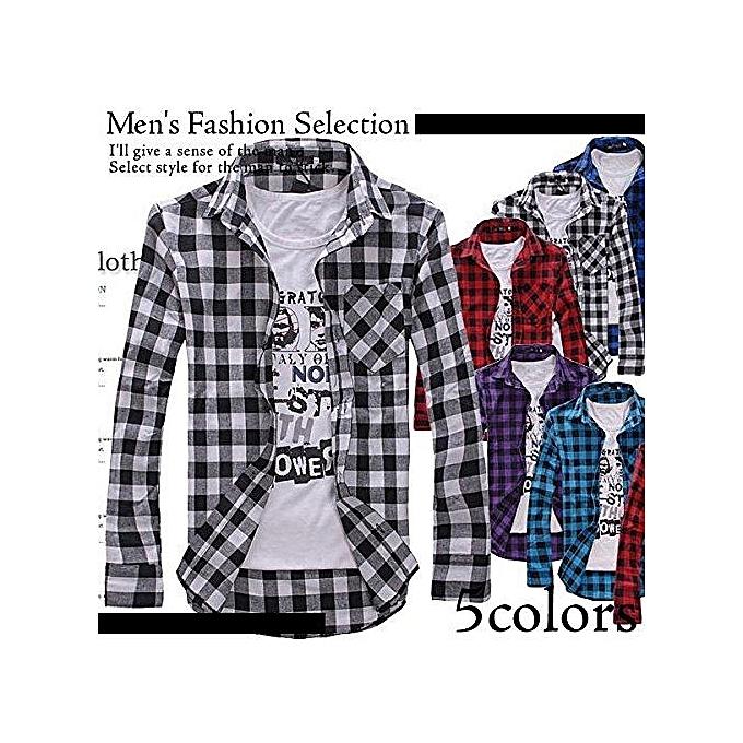 Fashion Men's Shirt Long Sleeve Shirt Mens Dress Shirts Brand Casual Fashion Business Style Shirts 100% Cotton-noir à prix pas cher