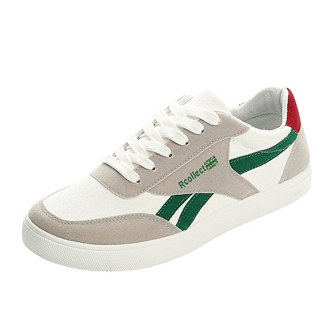 Other Spring and Autum Breathable Sports chaussures Canvas chaussures for Men -vert à prix pas cher