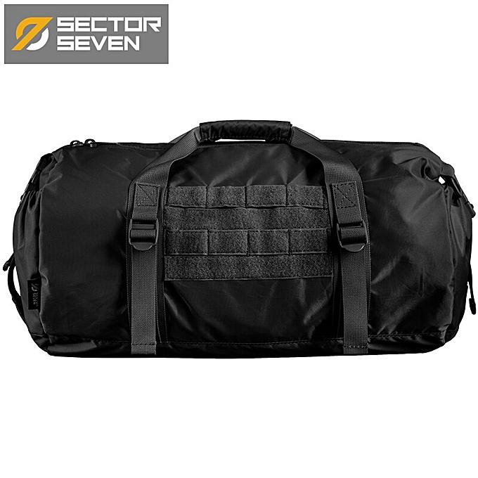 Other Sector Seven Men's Fashion Casual Packable Briefcase Outdoor Travel Shoulder Bags Rounded Commute Handbag(Balck) à prix pas cher