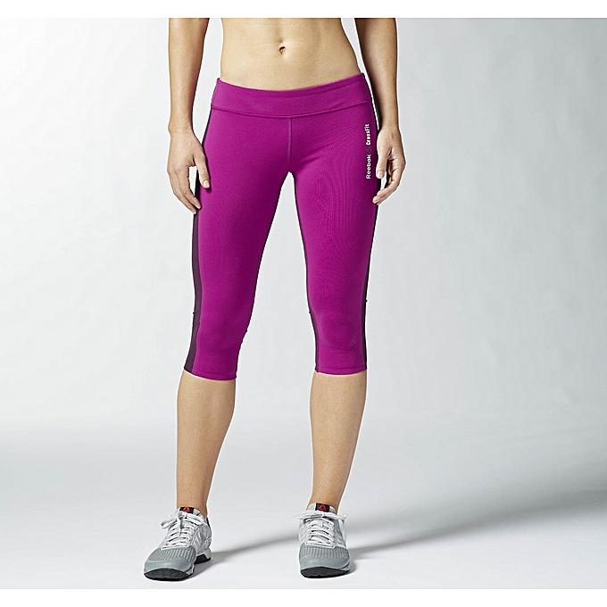 Reebok leggings Crossfit Chase Capri femme à prix pas cher  6e472c35ca5