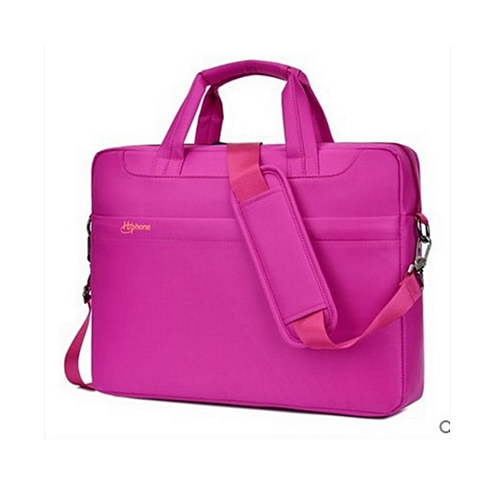 OEM 14 inch laptop sac tablet sac hommes Affaires shoulder briefcase-rose à prix pas cher