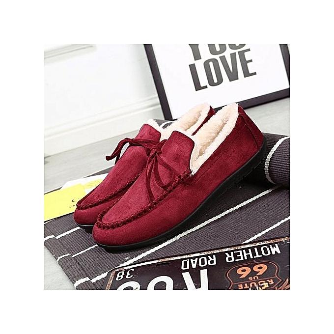 OEM nouveau warm cotton chaussures hommes peas chaussures plus velours Korean mode Décontracté chaussures driving chaussures-rouge à prix pas cher