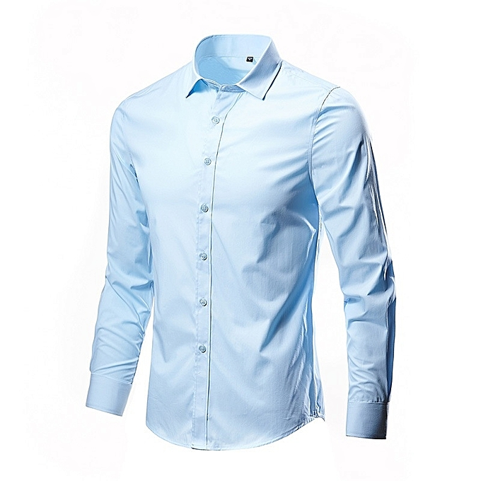 Other Stylish Solid Couleur Long Sleeve Dress Shirts for Men à prix pas cher