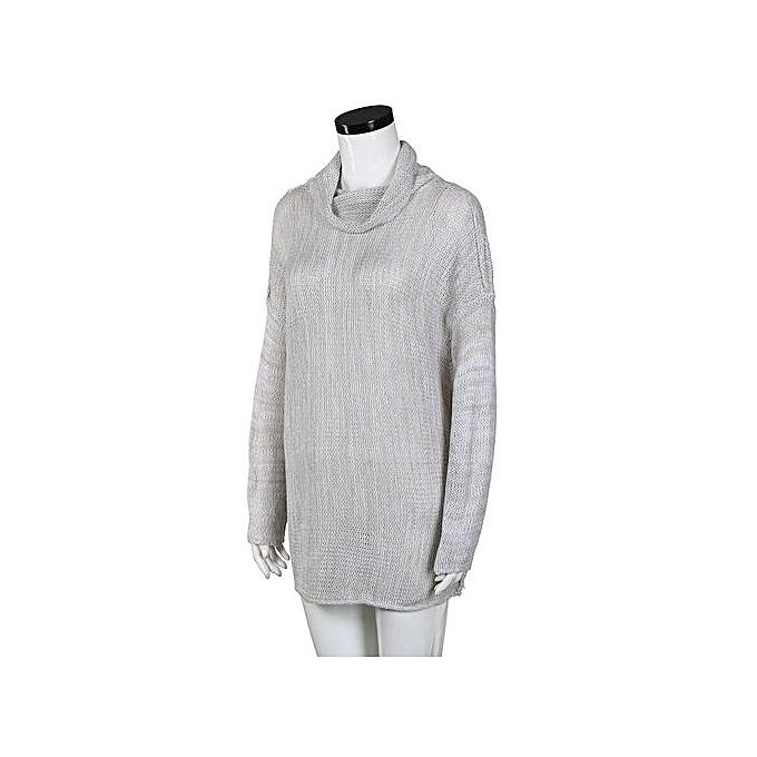 Fashion Xiuxingzi_femmes Loose Long Sleeve Fall Winter OverTaille Sweater Jumper Shirt Tops GY L à prix pas cher