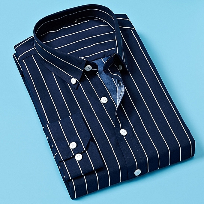 Other Stylish Men's Business Slim Striped Long Sleeve Shirt à prix pas cher