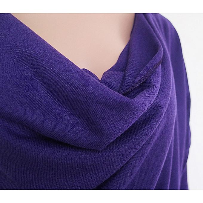 Fashion (Xiuxingzi) femmes Sexy V-neck Long Sleeve Irregular Blouse Top T Shirt à prix pas cher