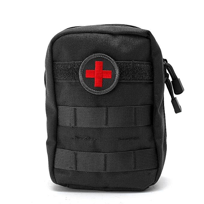 UNIVERSAL 900D Nylon Tactical Molle Waist Bag Medical First Aid Utility ETM Pouch Camping noir à prix pas cher