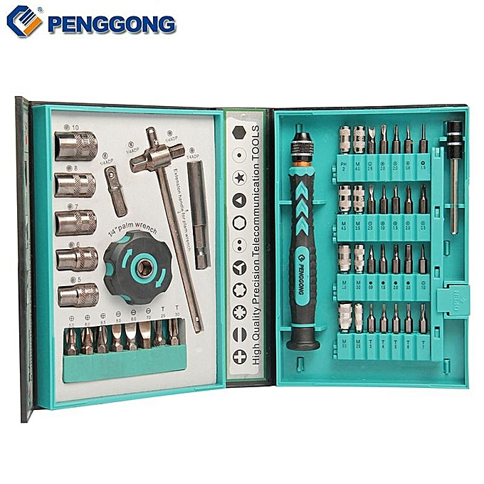 UNIVERSAL PENGGONG 47 In 1 Precision Sleeve Screwdrivers Telecommunication Tools CR-V Electronic Repair Tools Kit For Cell Phone IPhone Computer à prix pas cher