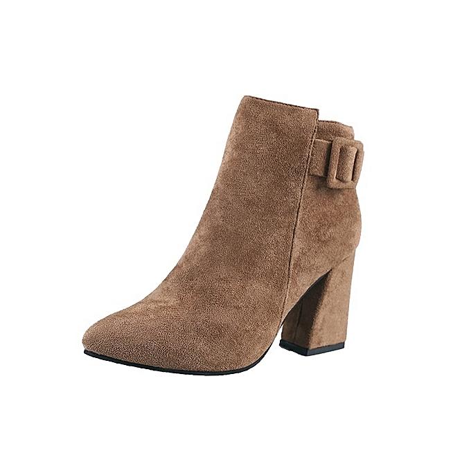 Autre Stylish Autumn and Winter High Heel and Sharp Sharp Sharp Head Ankle Boots à prix pas cher  | Jumia Maroc f45a24
