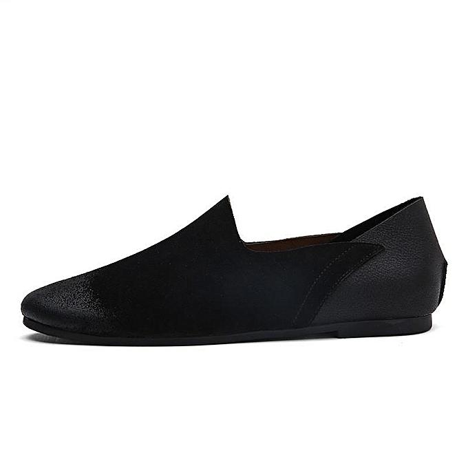 Fashion Fashion Large Size Size Large   Nubuck Upper Splicing Low Top Slip On Lazy Casual Loafers-EU à prix pas cher  | Jumia Maroc b3a7d0