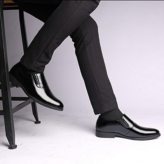 Fashion jiuhap store Men's Business Patent Leather Bright Leather Pointed Comfortable Tide chaussures à prix pas cher    Jumia Maroc