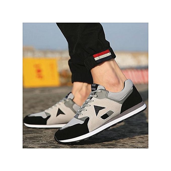 Générique Refined Autumn  Foreign Trade Man Korean Edition Edition Edition Casual Sneaker   Fashion Board Shoes-Noir  à prix pas cher  | Jumia Maroc 8eb476