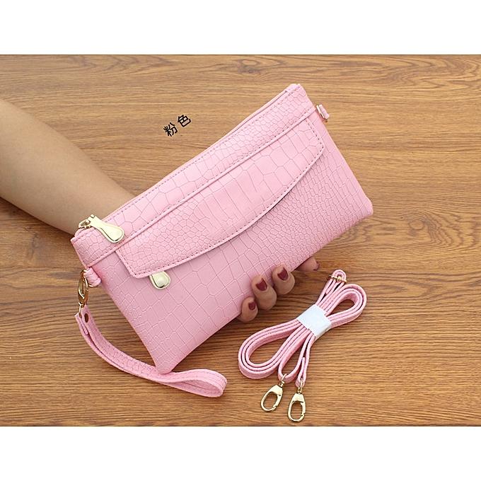 Fashion Korean New Wohommes Crocodile Pattern Clutch Bag Messenger Bag Ladies Dual-use Small Bag Wallet Casual Bag à prix pas cher