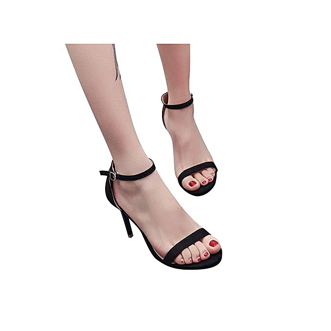 Fashion Xiuxingzi_Fashion femmes Ladies Sandals Ankle talons hauts Block Party Open Toe chaussures à prix pas cher
