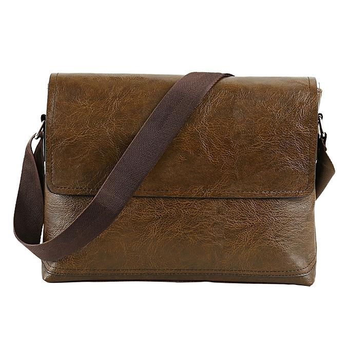 Other Fashion Male PU Leather Messenger Bags for Man Casual Business Vintage Crossbody Bag(Light marron) à prix pas cher