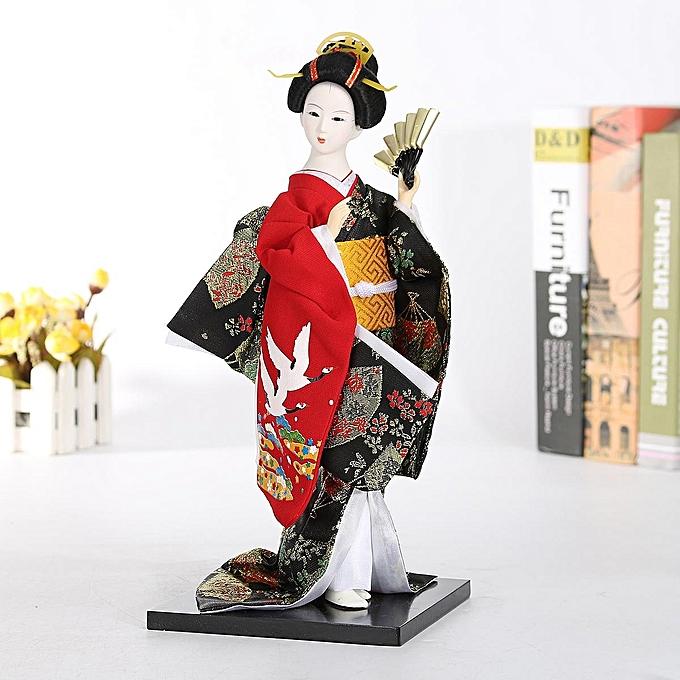 UNIVERSAL 12  30cm Oriental Japanese Kimono Kabuki Doll Geisha Figure Figurine Statue à prix pas cher