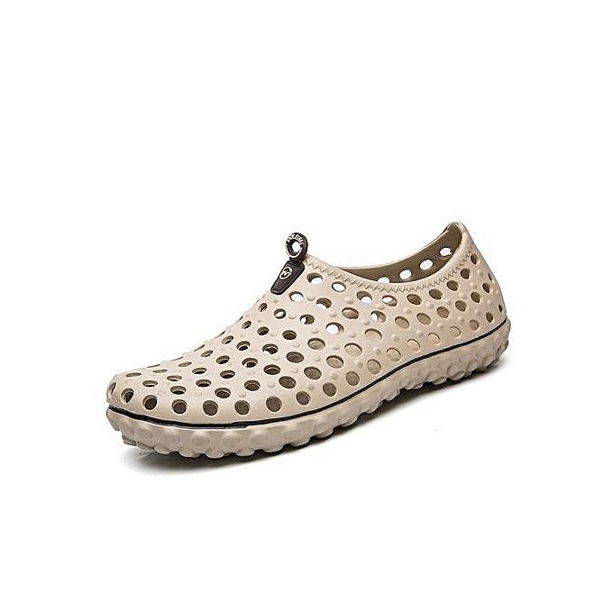 mode Super grand Taille Hommes's hole chaussures diving imperméable plage slippers causal sandals -khaki à prix pas cher