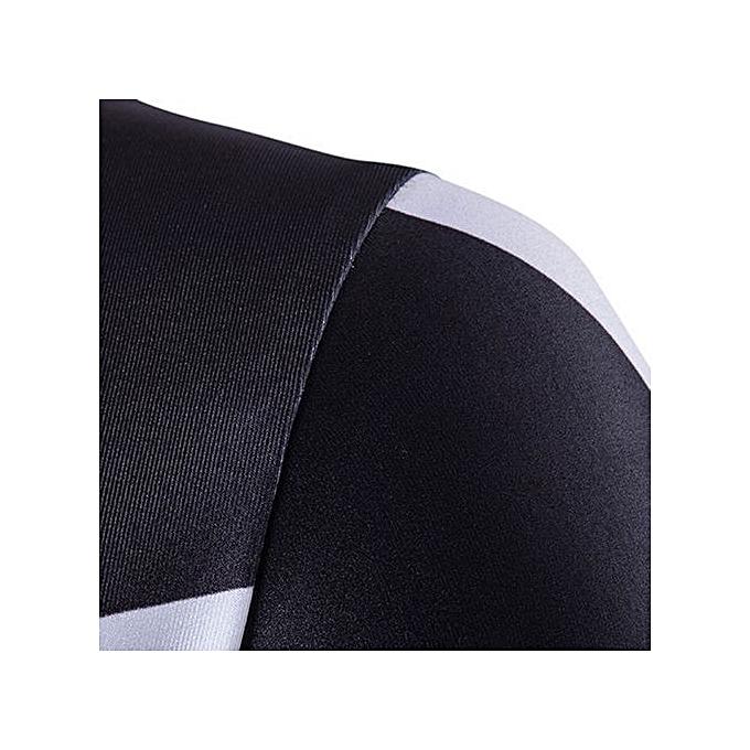 Cuena mode Pour des hommes manche courte Hip Hop T-Shirt rayé ruewear Shirt L-noir  L à prix pas cher