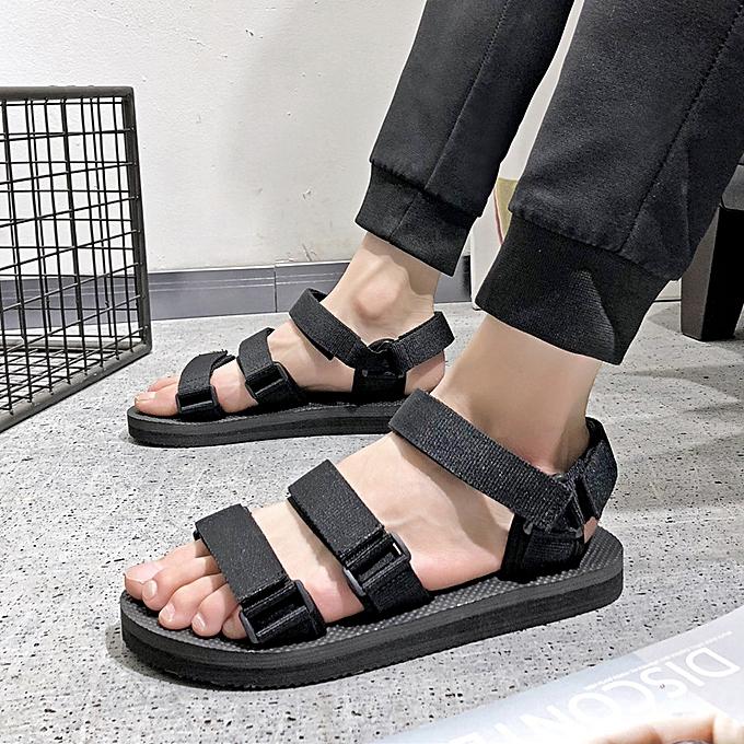 mode Hommes's webbing non-slip plage sandals-noir à prix pas cher