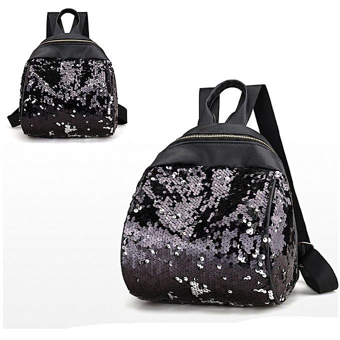 Generic femmes Girl Backpack Travel Rucksack Shoulder Shiny Sequins School Bags BK à prix pas cher