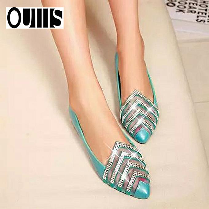 Fashion Sweet wind pointed shallow mouth femmes chaussures bleu à prix pas cher    Jumia Maroc