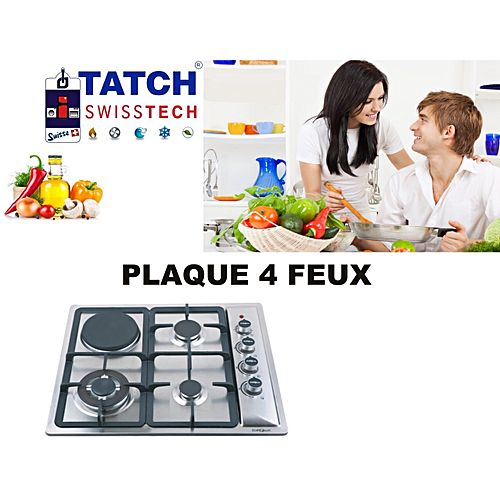 cuisini re plaque encastrable 4 feux 3 gaz 1 lectrique jumia maroc. Black Bedroom Furniture Sets. Home Design Ideas