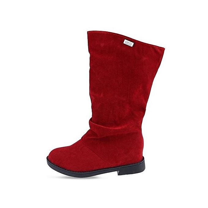 Fashion Elegant Pure Color Flat Sole High High Sole Leg Boots For WoHommes  à prix pas cher  | Jumia Maroc 165958
