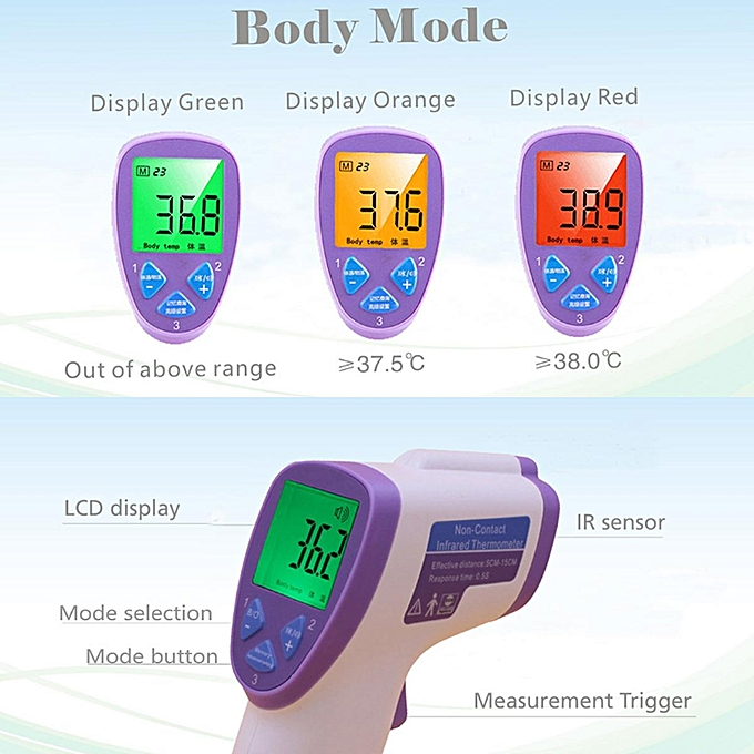 Other Non Contact Digital Infrarouge Surface Body Forehead Ear Thermometer Baby Adult FCJMALL à prix pas cher