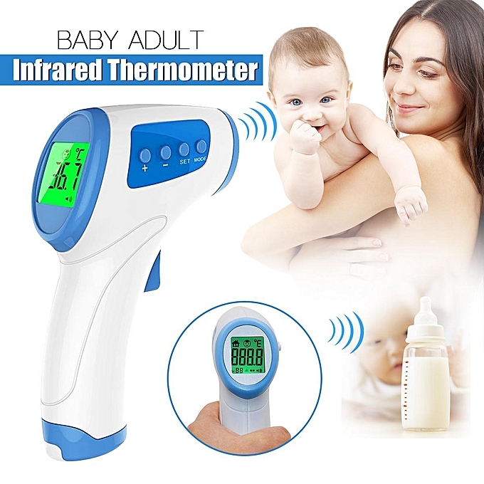 UNIVERSAL LCD Adult Baby Digital Body Temperature Medical IR Infrarouge Ear Thermometer safe bleu à prix pas cher