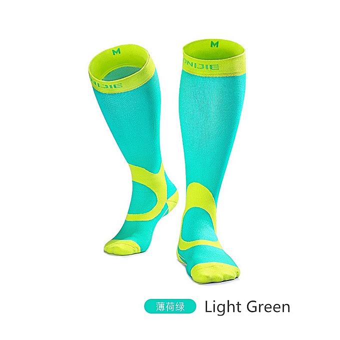 AONIJIE Outdoor Sport Knee High Socks femmes Men Soccer Sport Running Compression Socks Calf Support Leg Stretch Sleeve Stockings(vert)(XL) à prix pas cher