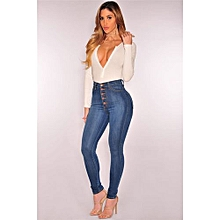 7cb2943e5d5fd Western Style New Explosion Models Large Size Women  039 s High Waist  Stretch Slim
