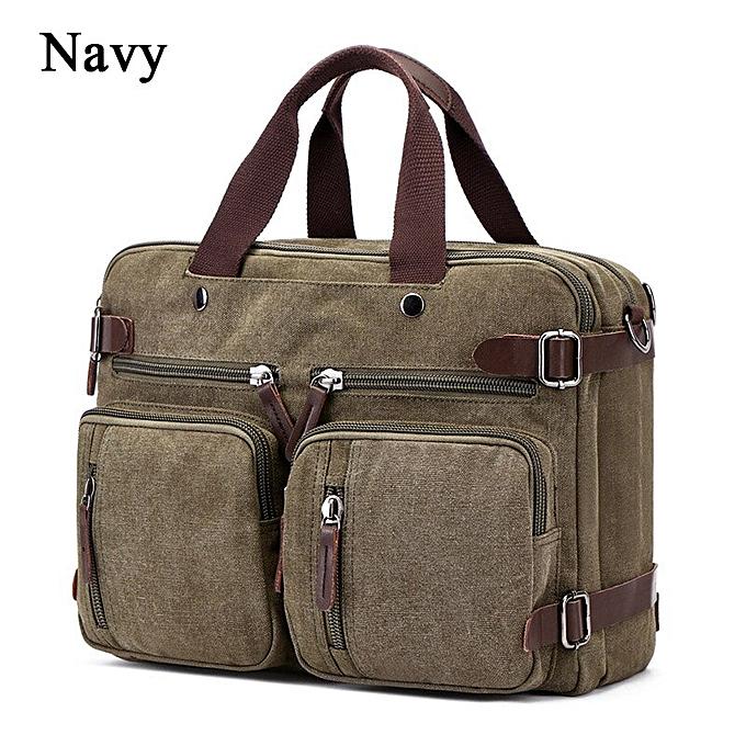Other Jorgeolea Hommes toile Multi-functional Briefcase Affaires Handsac Male Hand pack Dual-purpose sac Satchel E0227(navy) à prix pas cher